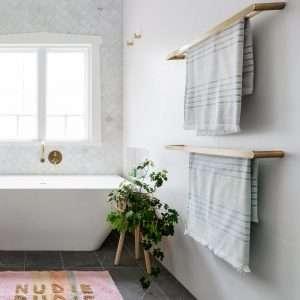 Flat Brass Towel Rail