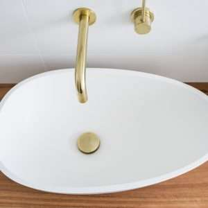 Brass basin pop up