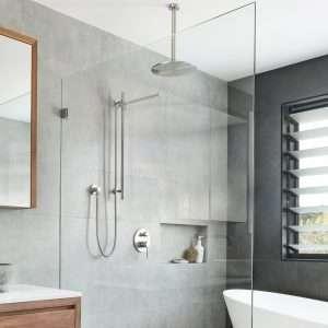 Brushed Nickel Shower
