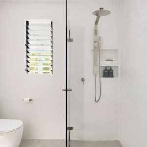 Brushed Nickel Flat Shower Combo