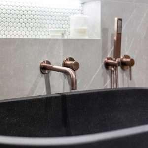 Brushed Rose Gold Shower Mixer