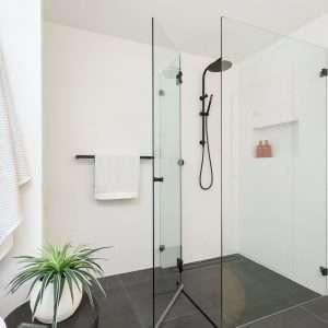 black shower combo