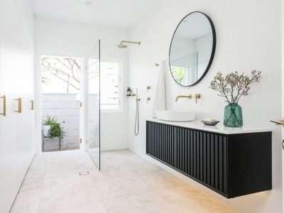 Black groove bathroom vanity