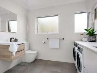 Combined bathroom laundry