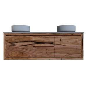 Timber vanity with Doors and Drawers
