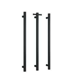Black Vertical Heated Towel Rail